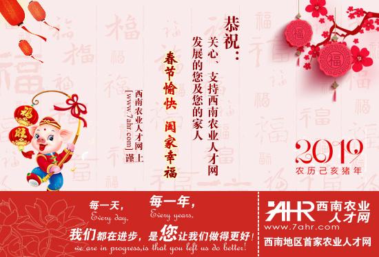 西南农业人才网祝大家2019年春节快乐~
